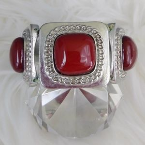 Vintage Red Statement Bracelet